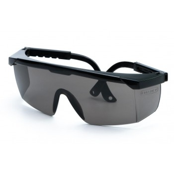 Skyddsglasögon gråa, justerbara bågar, skyddsklass F, CE, LAHTI
