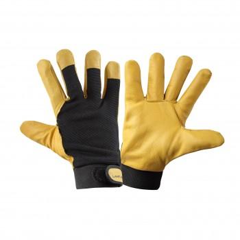 Arbetshandskar, varma läderhandskar, svart-orange, CE, LAHTI