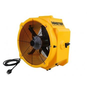 Stark och tålig bärbar industrifläkt, rörmodell, gul plast, 6450 m3/h, 40cm 285W Master DFX 20