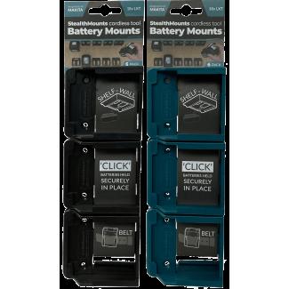 Batterihållare 6 st. för Makita 18v, StealthMounts