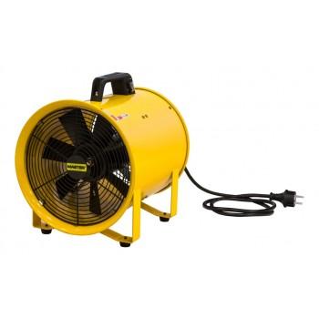 Stark och tålig bärbar industrifläkt 350W 3900 m³/h, rörmodell, gul pulverlackad, Master BLM 6800