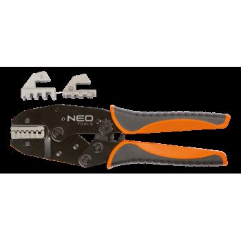 Klämtång 220 mm 45 HRc, för kabelskor 22-10 AWG, 0.5-16 mm², CrMo, Neo Tools