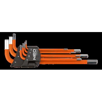 Insexnycklar sexkant, L-nycklar, sats 7 st. 1-6mm, S2, Neo Tools