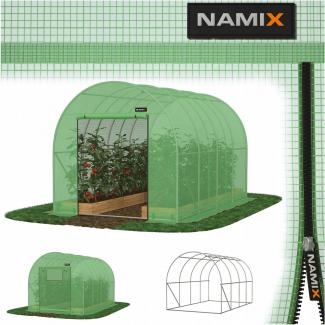 Plastväxthus för året runt utomhusbruk, tunnelväxthus, 2.5m högt ,12-30kvm, stål, Namix Greenhouse