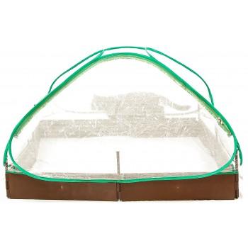 Plastväxthus, 115x115x60cm litet odlingstält för utomhusbruk, växthustält med transparent folie