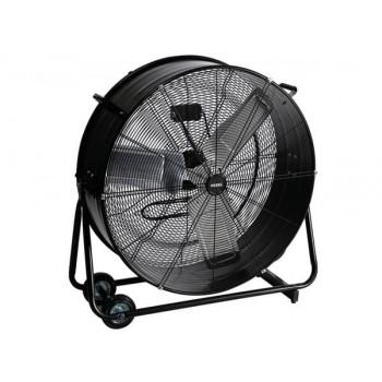 """Kraftfull industrifläkt 75 cm (30"""") 315W, trumfläkt golvmodell med hjul, svart pulverlackad, 10160m3/h, Perel"""