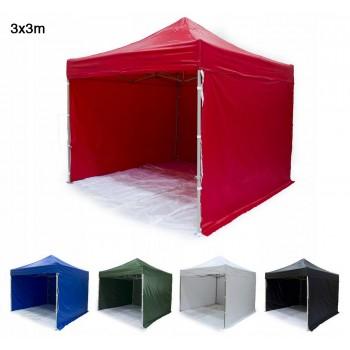 Tält 3x3m H35 Standard - mycket stabil expresstält, tillval för tryck, 4e vägg, dörr, fönster,  ramar (snabbtält, arbetstält, försäljningstält, eventtält, reklamtält)