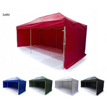 Tält 3x6m H35 Standard - mycket stabil expresstält, tillval för tryck, 4e vägg, dörr, fönster,  ramar (snabbtält, arbetstält, försäljningstält, eventtält, reklamtält)