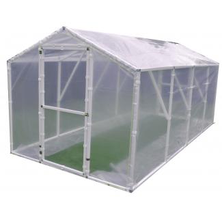 Plastväxthus Premium för året runt utomhusbruk, transparent 3 lagers folie, dubbla dörrar