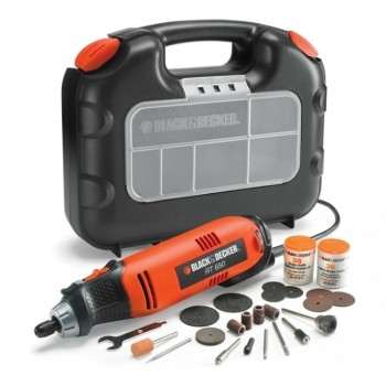Black & Decker Multiverktyg RT650KA 230V inkl. 97 tillbehör och väska