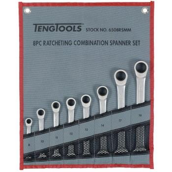 U-ringspärrnycklar, sats 8-19mm, Teng Tools