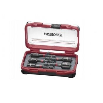 Hylssats, 5st magnetiska krafthylsor 65mm för skruvar/bultar inom bygg, Teng Tools