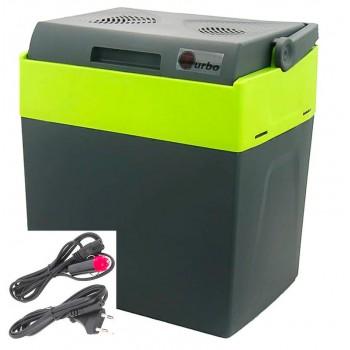 Kylväska, kylbox och värmebox elektriskt 12V / 230V, 33L för fritidshus, båtar, bilar, husvagn, camping m.m.