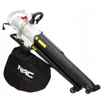 Lövblås eldriven, lövsug - 240V 3000W lövuppsamlare, 14 m3/min, 45L, 10:1,  8000-14000 rpm, NAC