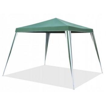 Paviljong 2.4x2.4m, utan väggar (tält, trädgårdstält, partytält), grön