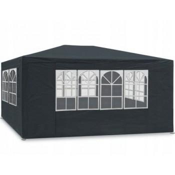 Paviljong 3x4m, 4 väggar med plastfönster (tält, trädgårdstält, partytält), olika färger