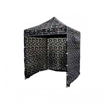 Tält 2x2m Kamouflagetält , stabil av bra kvalitet, 3 eller 4 väggar (camogrön, militärtäl, snabbtält, försäljningstält, eventtält)