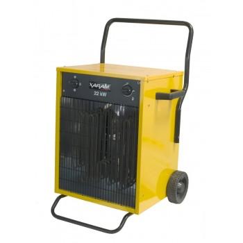 Byggfläkt, värmefläkt 11-22 kW 400V, IP44, mobil me dhjul, Xaram