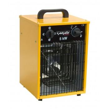 Byggfläkt, värmefläkt 2.5-5 kW 230V, IP44, Xaram