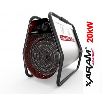 Portabel värmefläkt, byggfläkt 6-9 kW elektroniskt LCD, 400V, 1600-3000 m3/h, Dania Heater Xaram