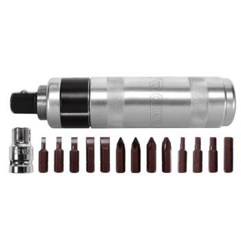 Kraftbits med magnetiskt handtag 160mm, sats 15 delar i metallbox