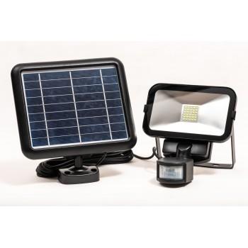 Kompakt LED strålkastare 500 LM av hög kvalitet, med solpanel, rörelsesensor, multifunktion, IP65, slim, Capral