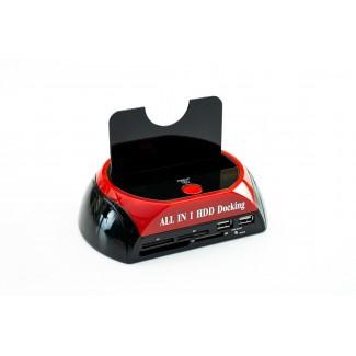 Dockningsstation all-in-1, SATA HDD One Touch Backup, USB2 / ESATA, USB minnesadapter