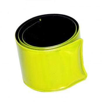 Elastiskt reflexband, gul, 3x34cm, CE , Lahti
