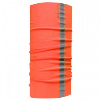 Universal huvudduk / ansiktsmask med reflex och fleece, orange