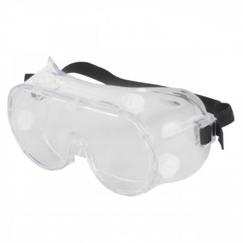 Färglösa skyddsglasögon, korgglasögon mot splitter, PC