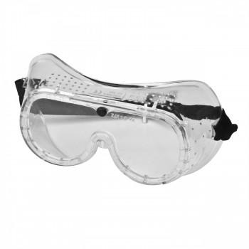 Färglösa skyddsglasögon, korgglasögon mot splitter, S