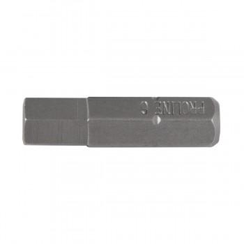 """Bitsadapter hex 6mm 1/4"""" 25mm lång, sats 10st. PROLINE"""