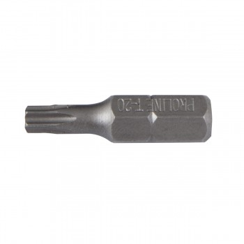 TORX BITS 1? 25MM 10st., T40 WITH HOLE   PROLINE