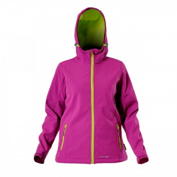 Ladies' soft-shell jackets with hood