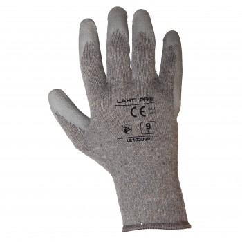 Arbetshandskar latex, gråa, CE, LAHTI