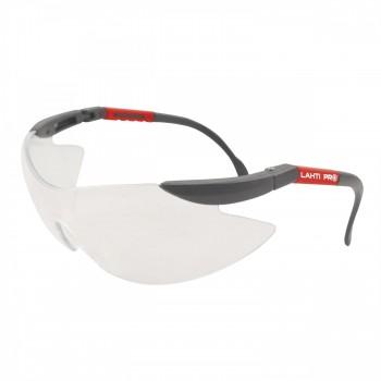 Lätta, färglösa skyddsglasögon F1 utan bågar, sjusterbara