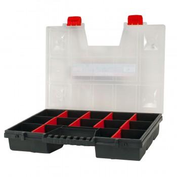 Förvaringsbox med handtag, organiser 18 fack 6.5x39x49 cm, PROLINE HD