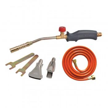 Lödbrännare, sats med 17mm, 22mm, 40mm munstycken, slang 2m, PROLINE