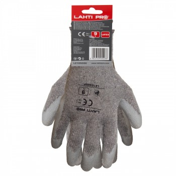 "GLOVES LATEX GREY L210309P, (butiksförp.), "" 9"" , CE, LAHTI"