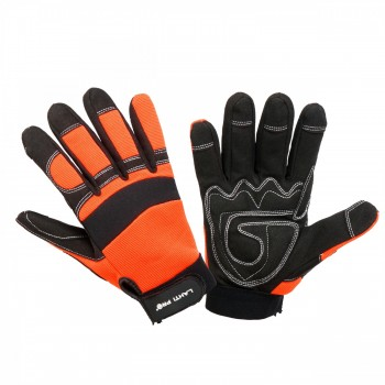 Handskar, svart-orange, spandex, mikrofiber, CE, EN 420, Lahti Pro L2805