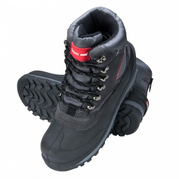 "SNOW BOOTS, SUEDEOXförD, GREY-RED, "" 39"" , LAHTI"