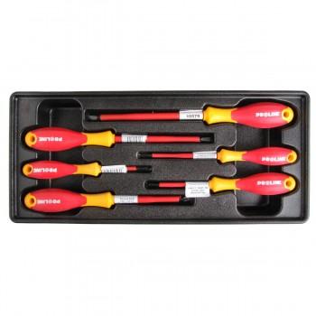 Skruvmejselsats för elektriker, verktygstråg  nr.7 sats 6st
