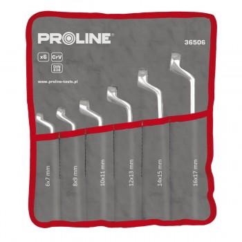Ringnyckel, böjda med offsetm sats - DIN 838 , 6x7-30x32 PROLINE