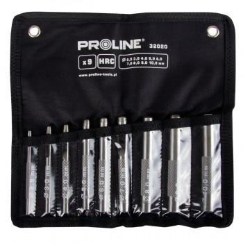Stans, hålpipa för läder, sats 15st 2.0-22mm HRC, Proline'